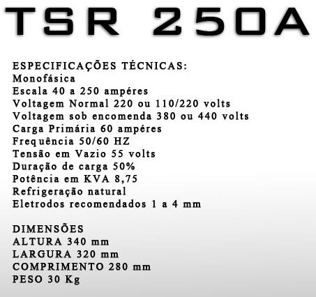 MAQUINA DE SOLDA ELETRIMER 250 A
